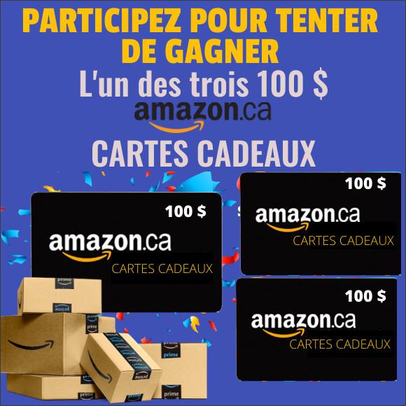 Concours CARTE CADEAU AMAZON 100 $