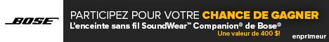 L'enceinte sans fil SoundWear Companion de Bose Concour